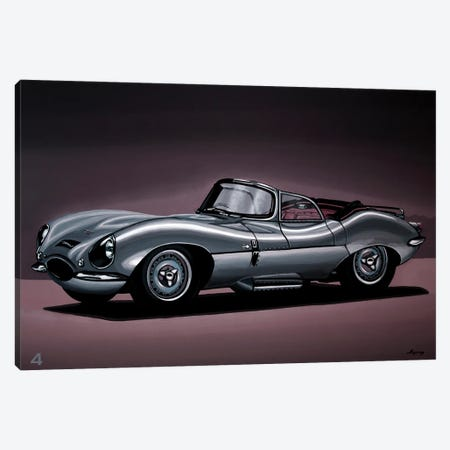Jaguar XKSS 1957 Canvas Print #PME196} by Paul Meijering Canvas Art