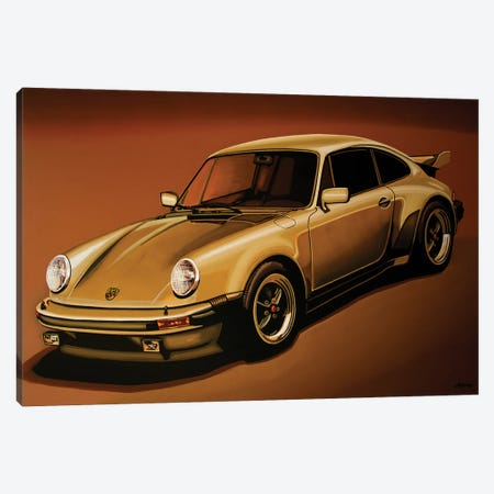 Porsche 911 Turbo 1976 Canvas Print #PME197} by Paul Meijering Canvas Art