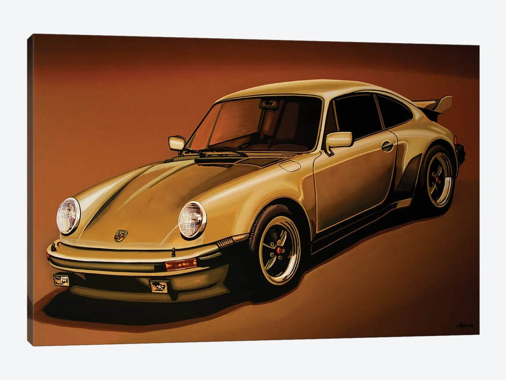 Porsche 911 Turbo 1976 by Paul Meijering 1-piece Canvas Artwork