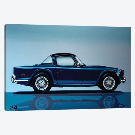 Triumph TR5 1968 3-Piece Canvas #PME198} by Paul Meijering Art Print