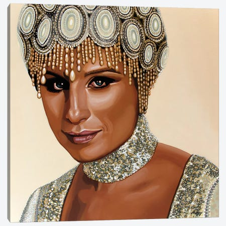 Barbra Streisand II 3-Piece Canvas #PME19} by Paul Meijering Canvas Wall Art