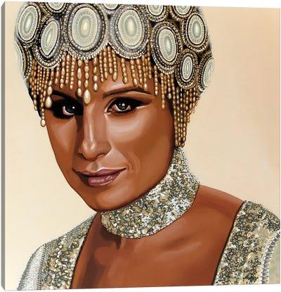 Barbra Streisand II Canvas Art Print