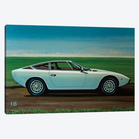 Maserati Khamsin 1974 Canvas Print #PME201} by Paul Meijering Art Print