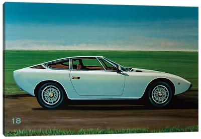 Maserati Khamsin 1974 Canvas Art Print
