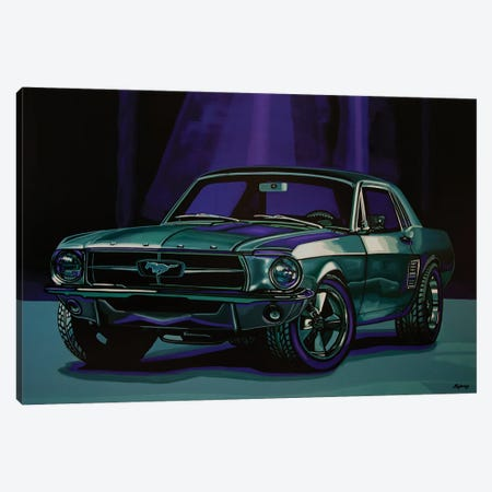 Ford Mustang 1967 Canvas Print #PME203} by Paul Meijering Canvas Print