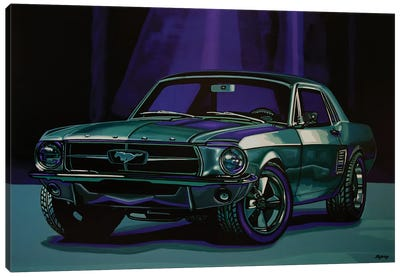 Ford Mustang 1967 Canvas Art Print