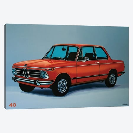 BMW 2002 1968 Canvas Print #PME209} by Paul Meijering Canvas Print