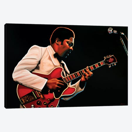BB King Canvas Print #PME20} by Paul Meijering Canvas Print