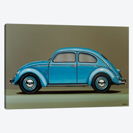 Volkswagen Beetle 1955 Canvas Print #PME210} by Paul Meijering Canvas Art