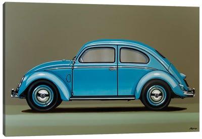 Volkswagen Beetle 1955 Canvas Art Print