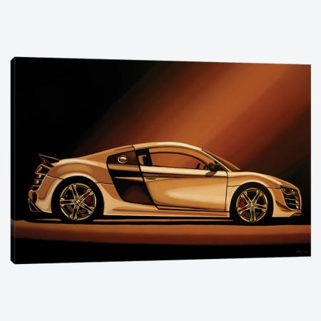 Audi R8 2007 3-Piece Canvas #PME212} by Paul Meijering Canvas Art