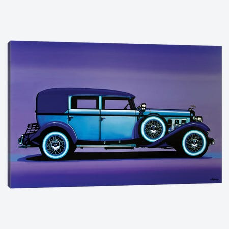 Cadillac V16 1930 3-Piece Canvas #PME214} by Paul Meijering Canvas Print