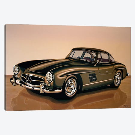 Mercedes Benz 300 SL 1954 Canvas Print #PME217} by Paul Meijering Canvas Art Print