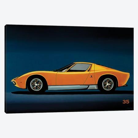Lamborghini Miura 1966 Canvas Print #PME218} by Paul Meijering Canvas Artwork