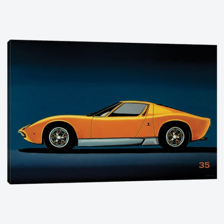 Lamborghini Miura 1966 Canvas Print #PME218} by Paul Meijering Canvas Artwork
