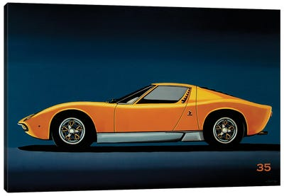 Lamborghini Miura 1966 Canvas Art Print
