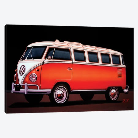 Volkswagen T1 Samba 1951 Canvas Print #PME219} by Paul Meijering Canvas Wall Art