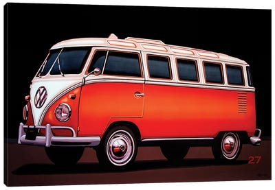 Volkswagen T1 Samba 1951 Canvas Art Print