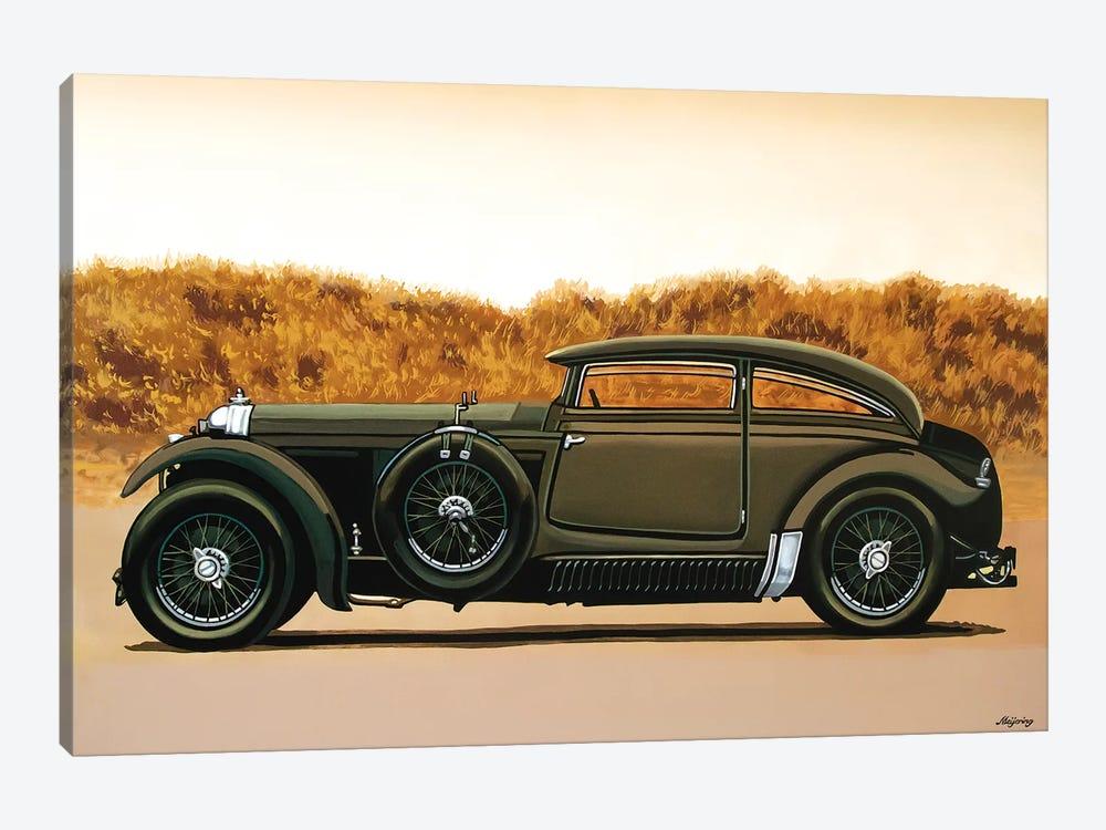 Bentley Blue Train Recreation by Paul Meijering 1-piece Canvas Wall Art
