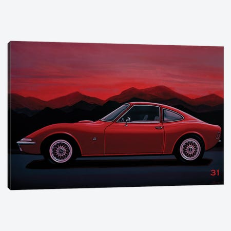 Opel GT 1969 Canvas Print #PME224} by Paul Meijering Canvas Art