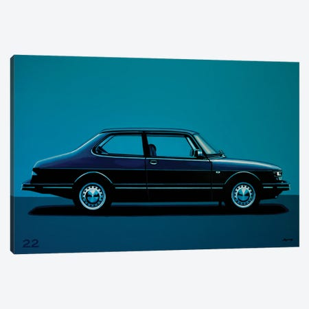 Saab 90 1985 Canvas Print #PME225} by Paul Meijering Canvas Wall Art