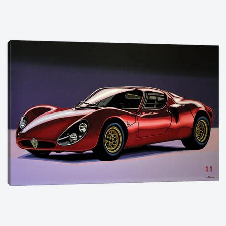 Alfa Romeo 33 Stradale 1967 3-Piece Canvas #PME226} by Paul Meijering Canvas Art
