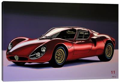 Alfa Romeo 33 Stradale 1967 Canvas Art Print