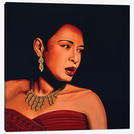 Billie Holiday 3-Piece Canvas #PME23} by Paul Meijering Art Print