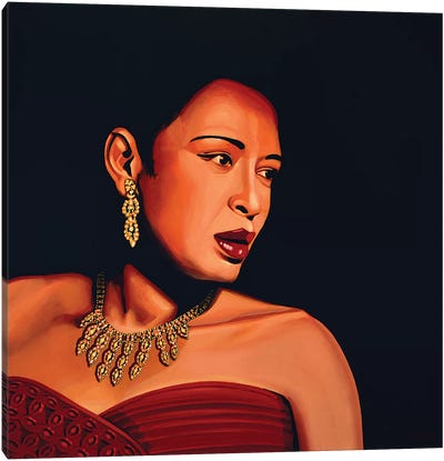 Billie Holiday Canvas Art Print