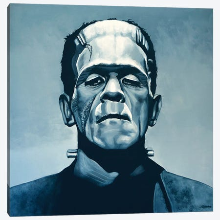 Boris Karloff Frankenstein Canvas Print #PME27} by Paul Meijering Canvas Artwork
