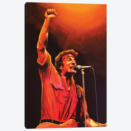 Bruce Springsteen Canvas Print #PME30} by Paul Meijering Canvas Artwork