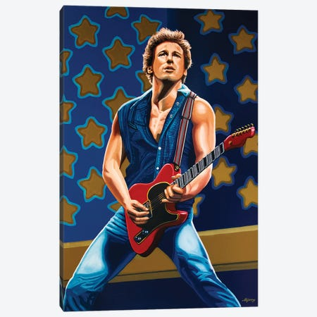 Bruce Springsteen The Boss Canvas Print #PME31} by Paul Meijering Canvas Wall Art