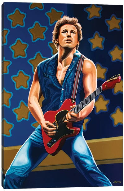 Bruce Springsteen The Boss Canvas Art Print