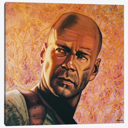 Bruce Willis Canvas Print #PME32} by Paul Meijering Canvas Artwork