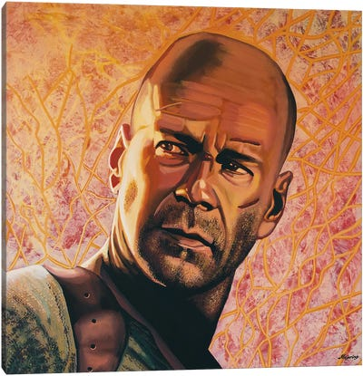 Bruce Willis Canvas Art Print