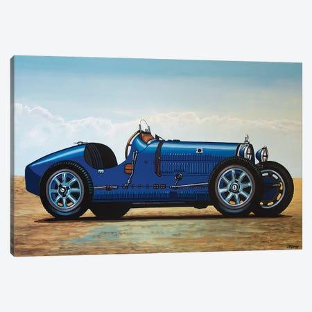 Bugatti Type 35 Grand Prix Canvas Print #PME35} by Paul Meijering Canvas Art Print