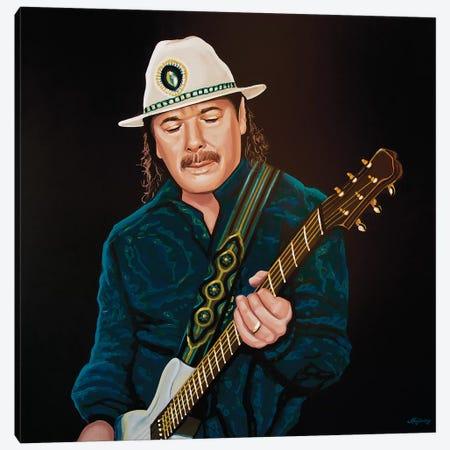 Carlos Santana Canvas Print #PME39} by Paul Meijering Canvas Wall Art