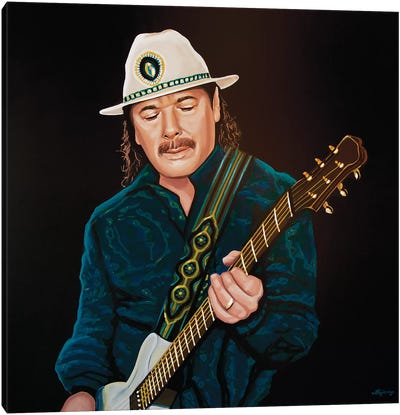 Carlos Santana Canvas Art Print