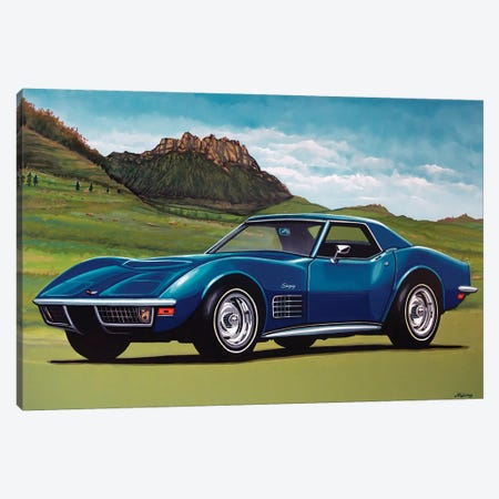Chevrolet Corvette Stingray 1969 Canvas Print #PME42} by Paul Meijering Canvas Print