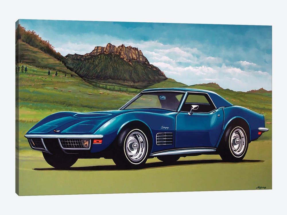 Chevrolet Corvette Stingray 1969 by Paul Meijering 1-piece Canvas Art Print