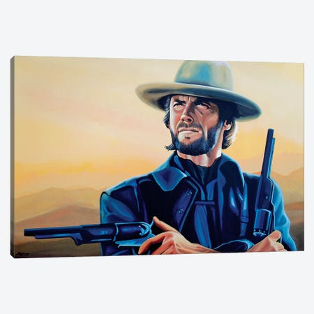 Clint Eastwood I Canvas Print #PME44} by Paul Meijering Canvas Artwork