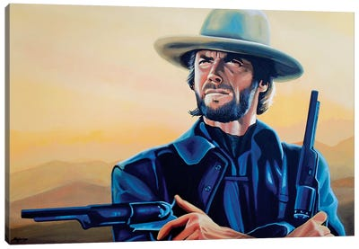 Clint Eastwood I Canvas Art Print