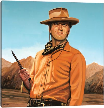 Clint Eastwood II Canvas Art Print