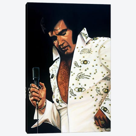 Elvis Presley I Canvas Print #PME56} by Paul Meijering Art Print