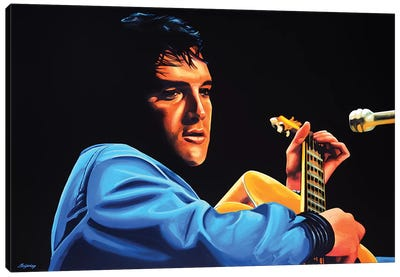 Elvis Presley II Canvas Art Print