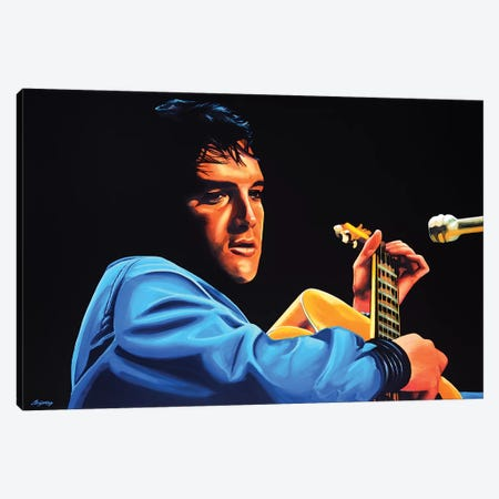 Elvis Presley II 3-Piece Canvas #PME57} by Paul Meijering Canvas Print
