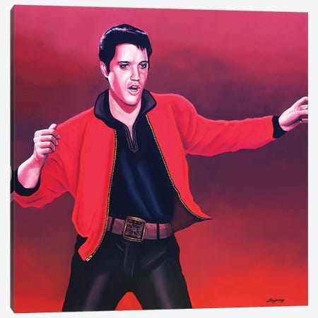 Elvis Presley IV Canvas Print #PME58} by Paul Meijering Canvas Artwork