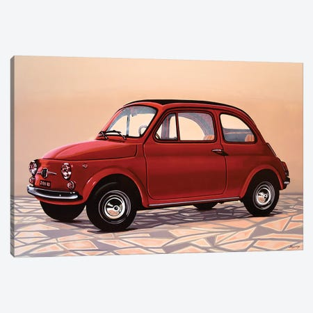Fiat 500 Canvas Print #PME61} by Paul Meijering Canvas Art Print