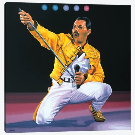 Freddie Mercury I Canvas Print #PME67} by Paul Meijering Canvas Artwork