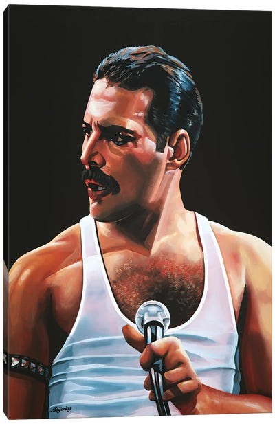 Freddie Mercury III Canvas Art Print